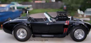 Cobra, 427 roadster, AC Cobra, Shelby Cobra, Cobra replica, supercharged Cobra, blown Cobra, black Cobra, Black and Red Cobra, Everett Morrison Kit, kit car, Smith Racing Cobra, custom Cobra, Tom Smith, Smith Racing